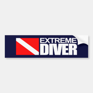 Plongeur extrême 4 autocollant de voiture