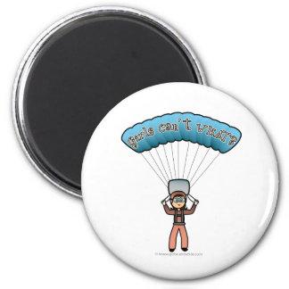 Plongeur féminin léger de ciel magnet rond 8 cm