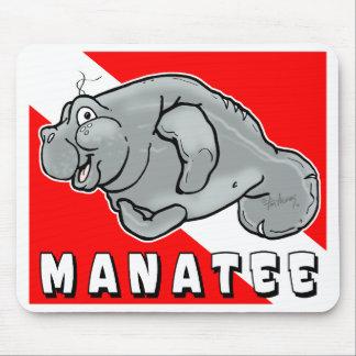 Plongeur Mousepad de lamantin d'ami Tapis De Souris