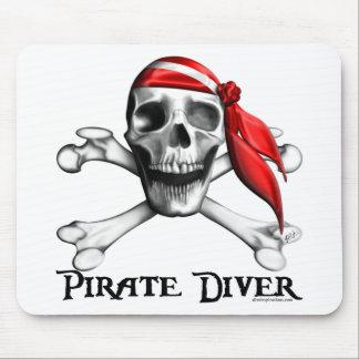 Plongeur Mousepad de pirate Tapis De Souris