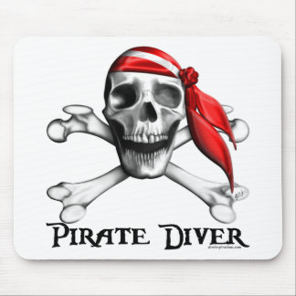 Plongeur Mousepad de pirate Tapis De Souris