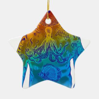 Plongeur Ornement Étoile En Céramique