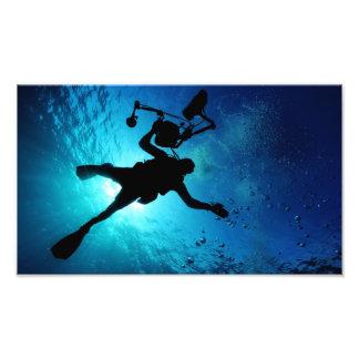 Plongeur sous-marin photo d'art