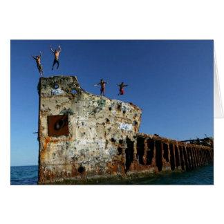 Plongeurs aux solides solubles Sapona, îles de Carte De Vœux