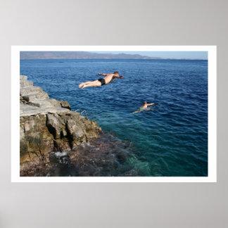 plongeurs d'Acapulco Affiche