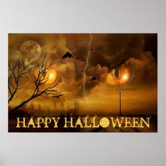 Plots réflectorisés heureux de Halloween et Poster