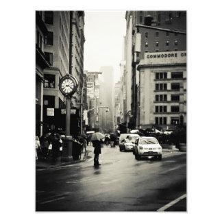 Pluie à New York City - style vintage Impressions Photo