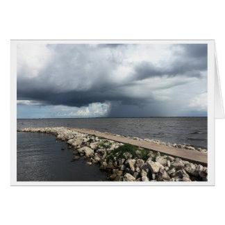 Pluie de baie de Palacios, Palacios, le Texas Carte De Vœux