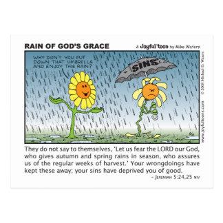 Pluie de la carte postale de la grâce de Dieu