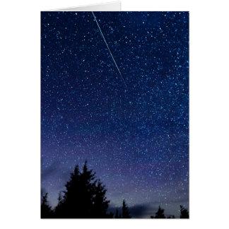 Pluie de météores de Perseid Carte De Vœux