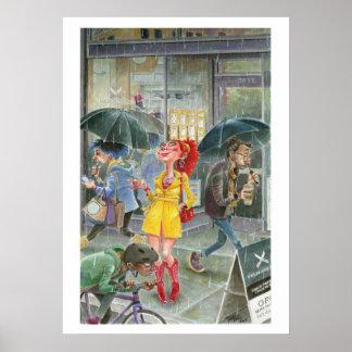 Pluie de Portland Poster