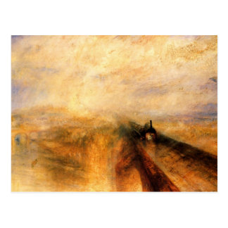 Pluie, vapeur, et vitesse carte postale