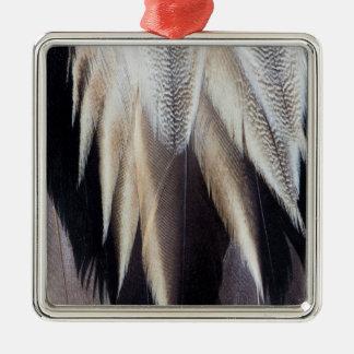 Plume de canard de canard pilet du nord ornement carré argenté