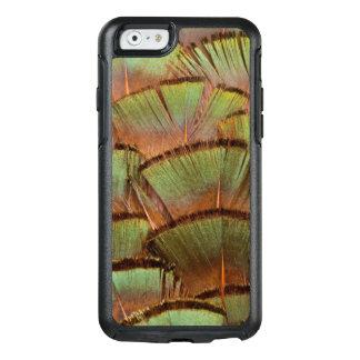 Plume de faisan éventée par vert coque OtterBox iPhone 6/6s