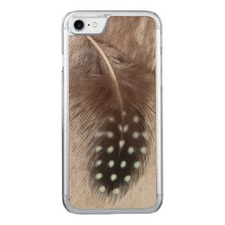 Plume de pintade et d'oie coque en bois iPhone 7