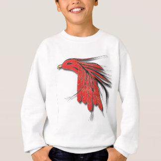 plume d'oiseau rouge sweatshirt