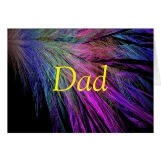 Plume fraîche vibrante I de fête des pères heureus Carte De Vœux