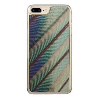 Plume lilas bleue de rouleau de Breasted Coque Carved Pour iPhone 7 Plus