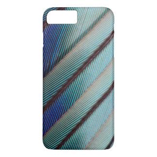 Plume lilas bleue de rouleau de Breasted Coque iPhone 7 Plus