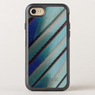 Plume lilas bleue de rouleau de Breasted Coque Otterbox Symmetry Pour iPhone 7