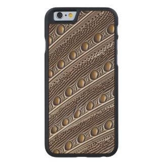 Plume repérée de faisan d'Argus Coque Mince En Érable iPhone 6