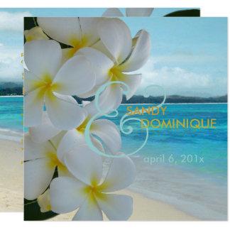 PLUMERIA LEI/BEACH/TROPICAL/DIYfonts de PixDezines Carton D'invitation 13,33 Cm