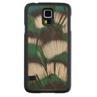 Plumes Anneau-Étranglées de faisan Coque Galaxy S5 En Érable