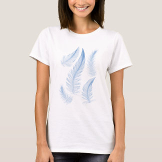 plumes bleues, illustration de vecteur t-shirt