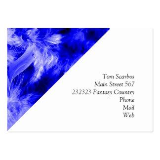 plumes colorées bleues modèle de carte de visite