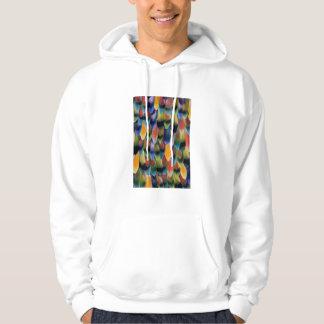 Plumes colorées de perroquet de perruche veste à capuche