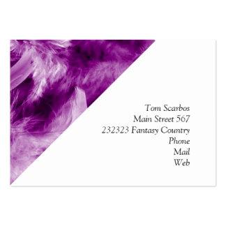 plumes colorées, pourpres carte de visite grand format