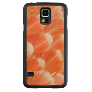 Plumes de Cocatoo colorées par pêche Coque Mince En Érable Galaxy S5