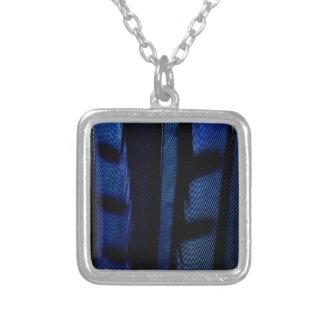 Plumes de geai bleu collier