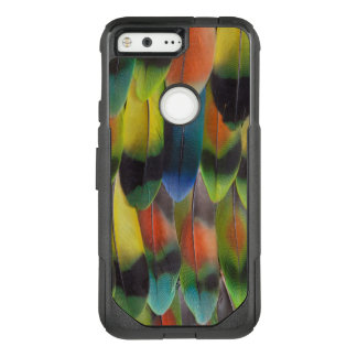 Plumes de queue colorées de perruche coque google pixel par OtterBox commuter