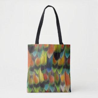 Plumes de queue colorées de perruche sac