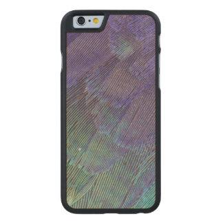 Plumes de rouleau de Lilas-breasted Coque Carved® Slim iPhone 6 En Érable