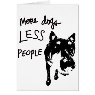 Plus de chiens, moins de carte de voeux de