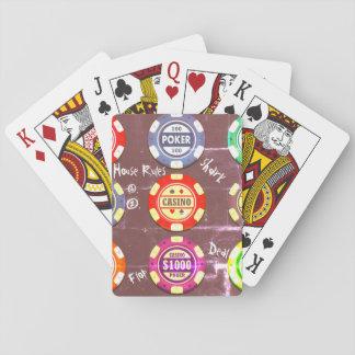 Plus de puces satisfont jeu de cartes