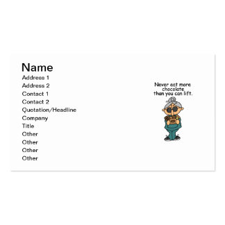Plus d'humour de chocolat cartes de visite personnelles