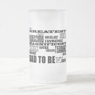 Plus grand meilleur avenir de baby shower engendre mug en verre givré