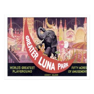 Plus grande Luna Park vintage Carte Postale