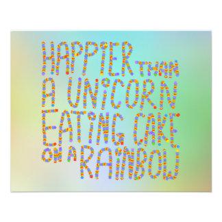 Plus heureuse qu'une licorne mangeant le gâteau su prospectus 11,4 cm x 14,2 cm
