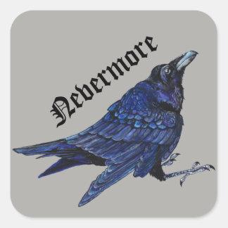 Plus jamais Raven Sticker Carré