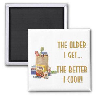 Plus j'obtiens l'aimant âgé magnet carré