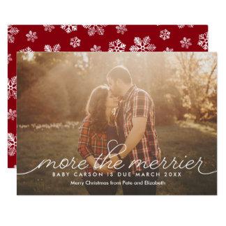 Plus la carte de Noël plus joyeuse de grossesse