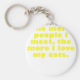 Plus les personnes que je rencontre les plus amou porte-clefs