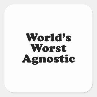 Plus mauvais agnostique du monde sticker carré