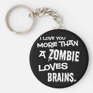 Plus qu'un zombi aime des cerveaux porte-clefs