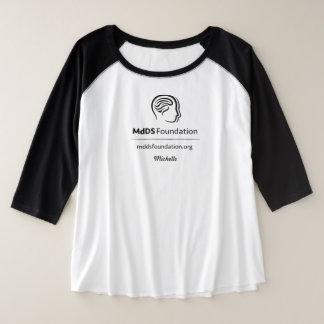 Plus-Size de conscience de MdDS 3/4 T-shirt de