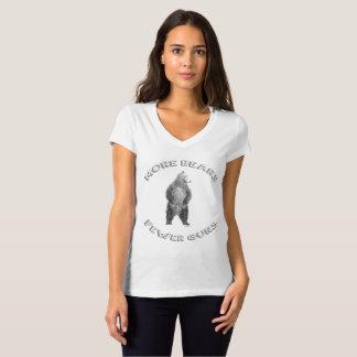 Plus soutient ; T-shirt de V-Cou de moins d'armes